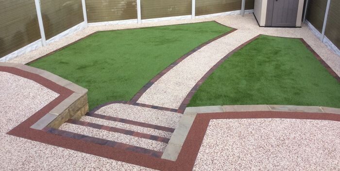 After images of new resin steps and pathway