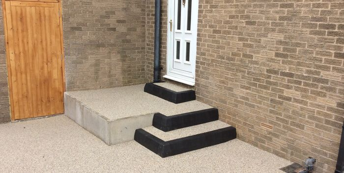 After image of resin steps and door way