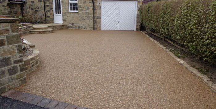 After image of large resin driveway