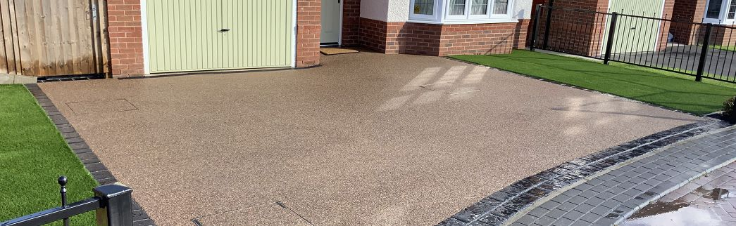 resin driveway area