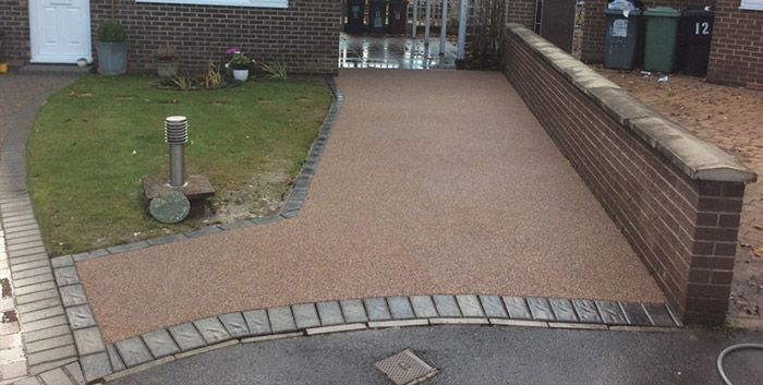 After image of resin driveway York