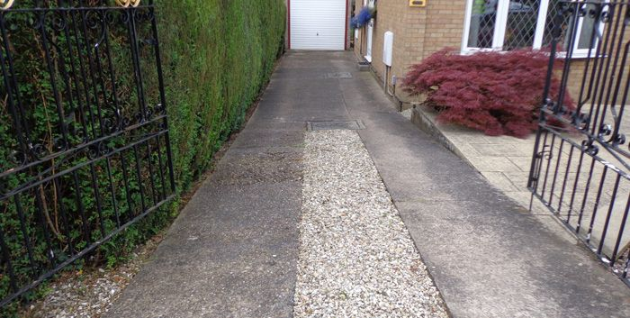 Before concrete driveway in Leeds