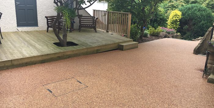After image of resin patio area Doncaster