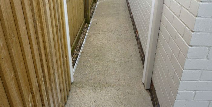 Before image concrete pathway