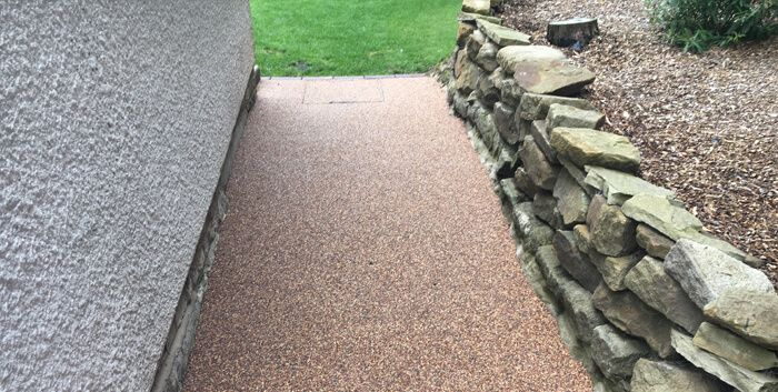 After image of new resin path