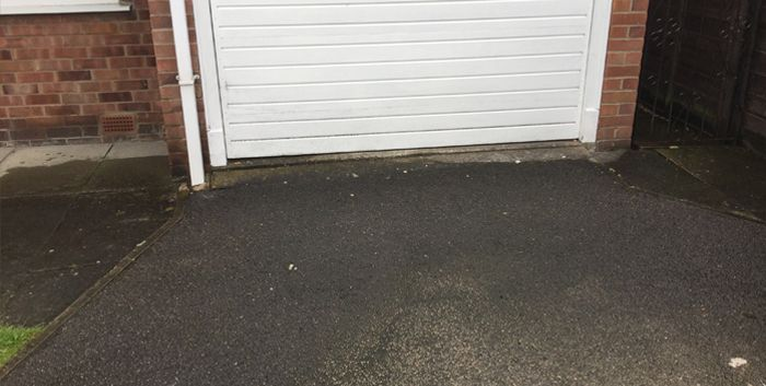 Before Image of concrete driveway