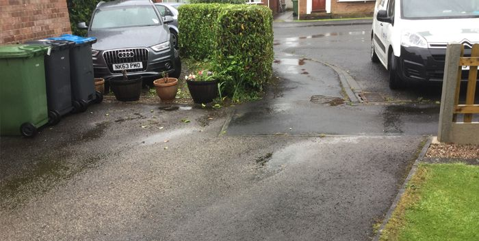Before image of concrete driveway Barnsley
