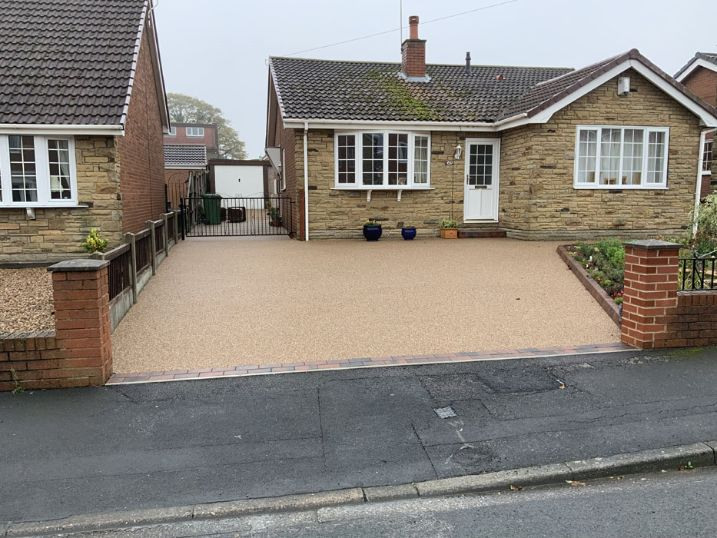 After image of new resin driveway in Castleford