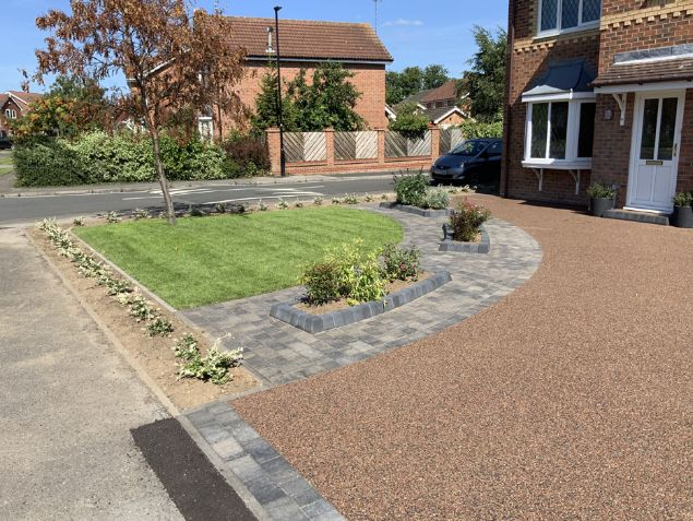 After image of a new Brittney Black resin driveway in York