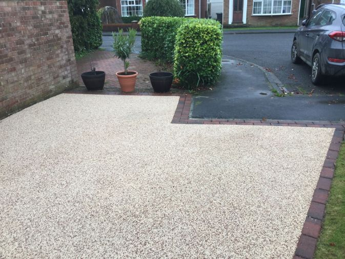 After image of Beige Resin driveway in York