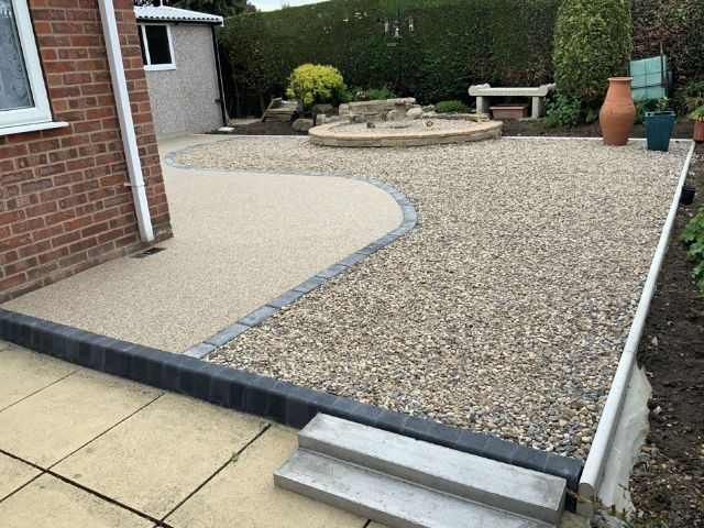 After image of new resin patio area in Ripon