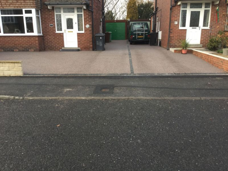 After image of a new Black Cerise resin driveway in Leeds