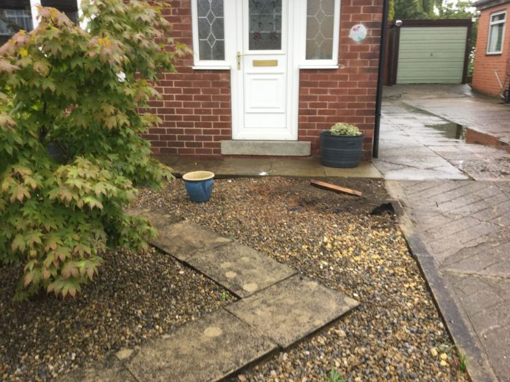 Before image of paved area in Leeds