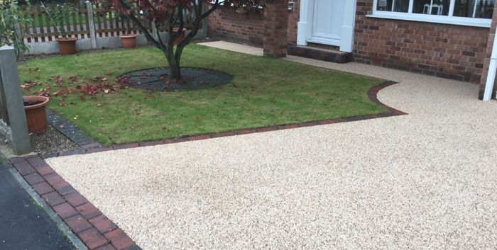After Resin driveway and pathway in Halifax