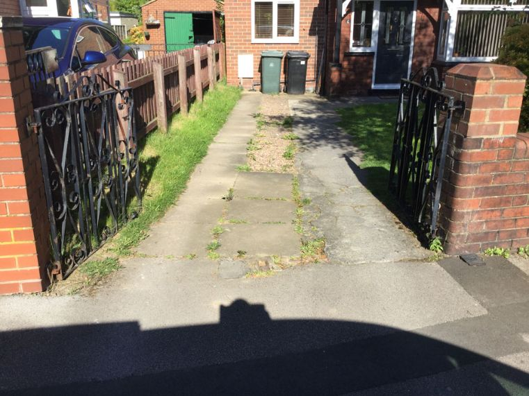 Before image of a driveway in Leeds