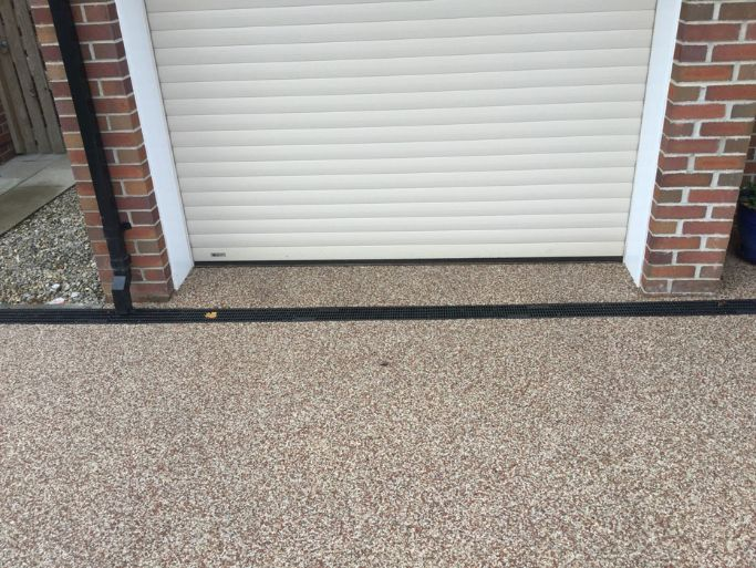 After Image of a new Danish Red Resin Driveway