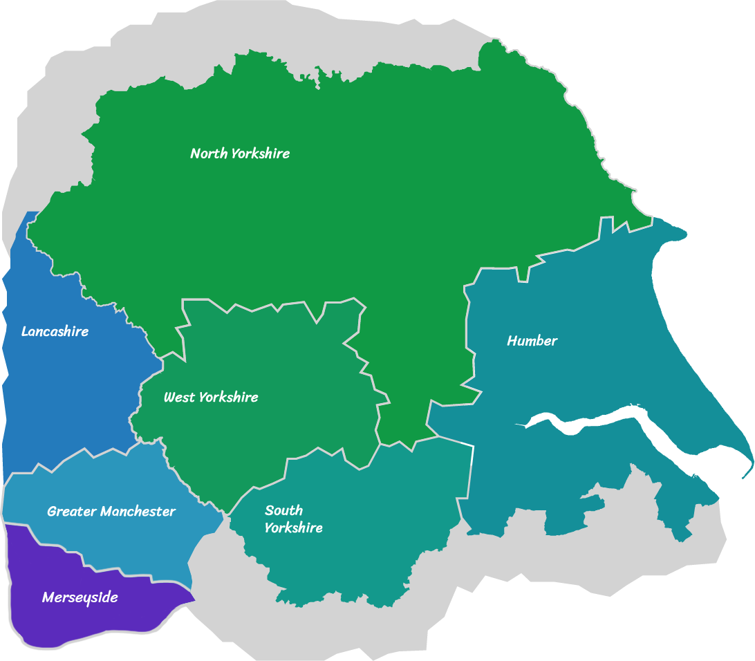 A graphic for a map of Yorkshire